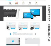 blue business website template... | Shutterstock .eps vector #232313839