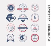 perfect set of barber and... | Shutterstock .eps vector #232316296