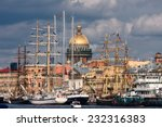 City View With Sailing Ships A...