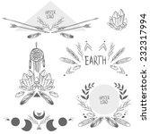 set of symmetrical graphic... | Shutterstock .eps vector #232317994