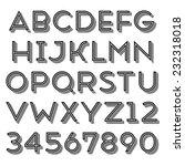 handmade sans serif font....   Shutterstock . vector #232318018