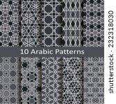 set of ten arabic patterns | Shutterstock .eps vector #232318030