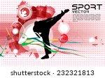 karate warrior  vector... | Shutterstock .eps vector #232321813