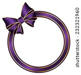 violet frame ring with silk bow ...   Shutterstock .eps vector #232321960