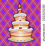 cake with cream on background | Shutterstock .eps vector #232325230