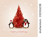 Christmas Card With Abstract...