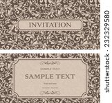 set of antique greeting cards ... | Shutterstock .eps vector #232329580