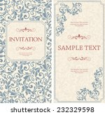 set of antique greeting cards ... | Shutterstock .eps vector #232329598