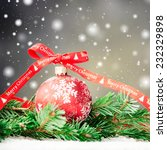 merry christmas and happy new... | Shutterstock . vector #232329898