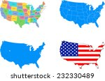 illustration of usa map with 4... | Shutterstock .eps vector #232330489