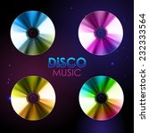 disco abstract background. set...