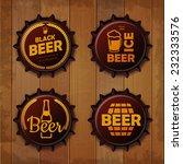 bottle cap design. beer labels | Shutterstock .eps vector #232333576