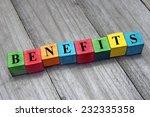 concept of benefits word on... | Shutterstock . vector #232335358
