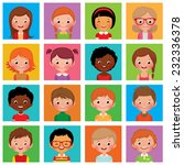 vector illustration set of... | Shutterstock .eps vector #232336378