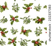 christmas holly twigs and... | Shutterstock .eps vector #232337383