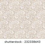 seamless vector scroll spiral... | Shutterstock .eps vector #232338643