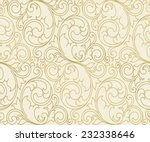 Stock vector seamless vector scroll spiral floral orange background 232338646