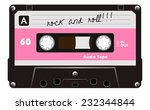 black musiccasette with pink... | Shutterstock .eps vector #232344844