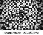 thee dimensional cubes extruded ... | Shutterstock . vector #232350490