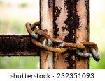 Rusty Chain On Gate  Rusty...