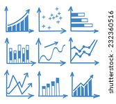 set of diagram and graphs in... | Shutterstock .eps vector #232360516