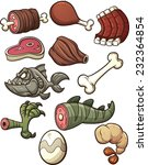 prehistoric meat for a paleo... | Shutterstock .eps vector #232364854
