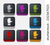 square button  gloves | Shutterstock . vector #232367023