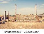 Roman ruins Sanctuaire Esculape Thuburbo Majus Tunisia