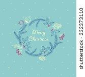 christmas frame | Shutterstock .eps vector #232373110