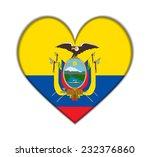 ecuador heart flag vector... | Shutterstock .eps vector #232376860