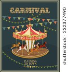 Carnival Poster With Merry Go...