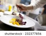 chef is decorating delicious... | Shutterstock . vector #232377856