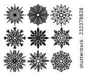vector snowflakes   Shutterstock .eps vector #232378828