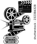 film reels and clapper board ... | Shutterstock .eps vector #232386328