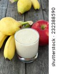 White Smoothie Made With Apple...