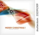 orange color christmas blurred... | Shutterstock . vector #232391509