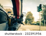 Motorcyclist On The Road  ...