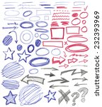 set of hand drawn graphic signs.... | Shutterstock .eps vector #232393969
