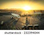 Airplane At The Terminal Gate...