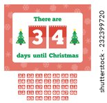countdown calendar. waiting for ... | Shutterstock .eps vector #232399720