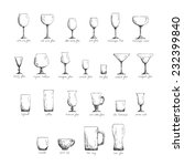 Collection Of Different Glass...