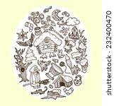 cartoon vector doodles fairy... | Shutterstock .eps vector #232400470