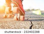 Close Up On Skates. Concept...