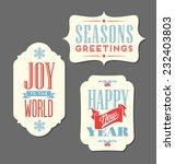 Christmas Holiday Tags Vintage...