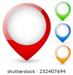 modern map markers. vector... | Shutterstock .eps vector #232407694