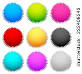 starburst   flash shapes  in 9...   Shutterstock .eps vector #232408243