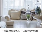 luxury earth tone color sofa in ... | Shutterstock . vector #232409608