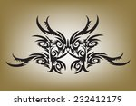 graphic   tattoos black on... | Shutterstock .eps vector #232412179