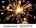 christmas sparkler on black... | Shutterstock . vector #232415770