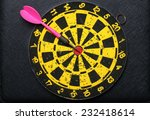 used and vintage dartboard with ... | Shutterstock . vector #232418614